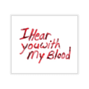 I Hear You With My Blood The Quiet Man Inspired Gamer Kiss-Cut Stickers