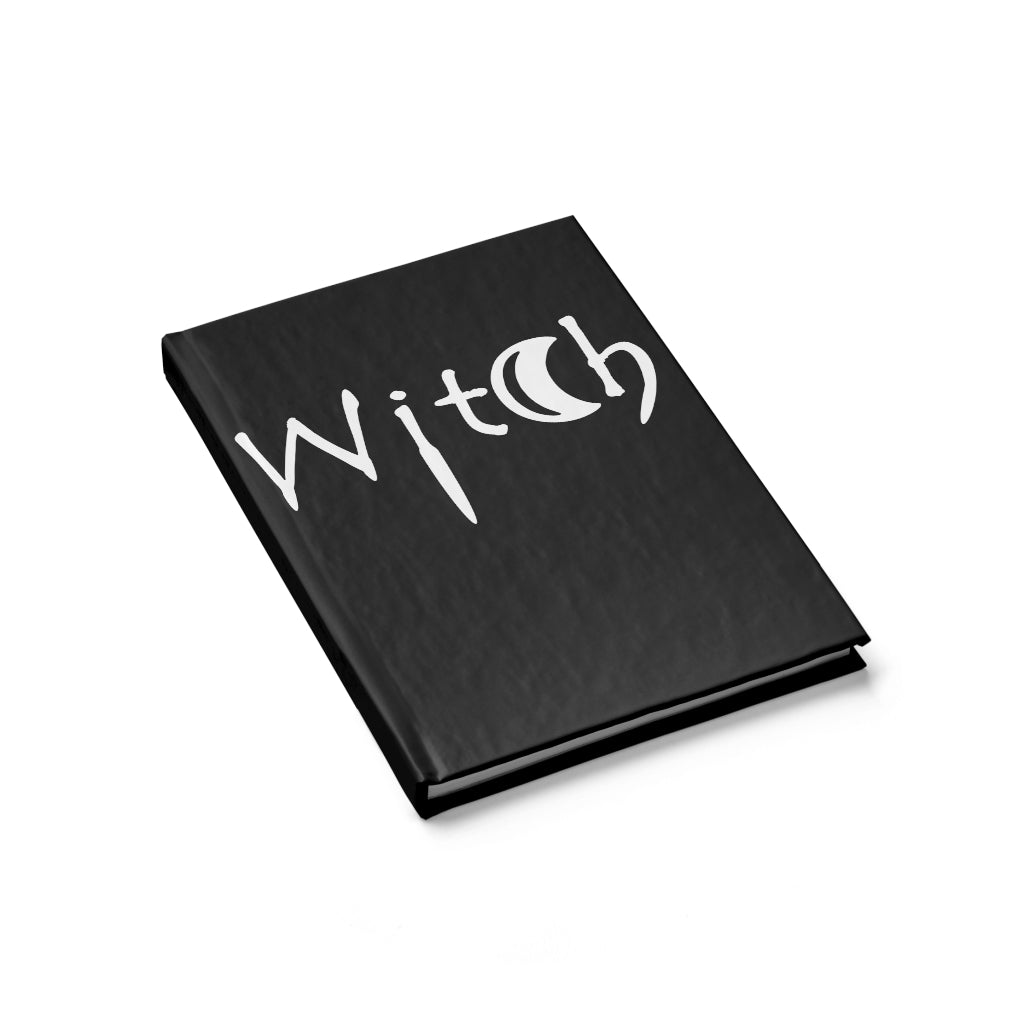 The word Witch in white on black Journal - Blank