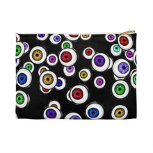 Load image into Gallery viewer, Goth Fashion Eyeballs Everywhere Halloween Accessory Pouch