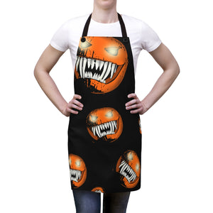 Scary Creepy Halloween Pumpkin Apron For Art or Cooking