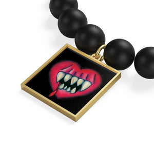 I'll Eat Your Heart Out Matte Onyx Bracelet