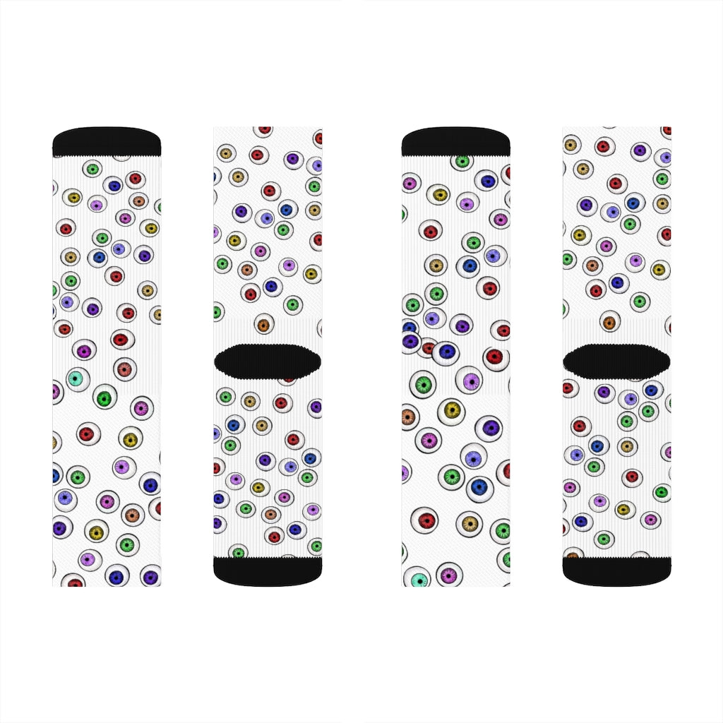 Halloween Eyeballs Everywhere Goth Socks