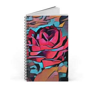 Abstract Rose Spiral Journal  Size 5 x 8