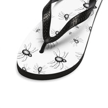 Load image into Gallery viewer, Summer Goth outfit Crawling With Spiders Unisex Flip-Flops
