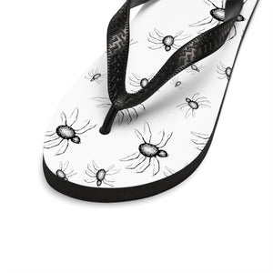 Summer Goth outfit Crawling With Spiders Unisex Flip-Flops
