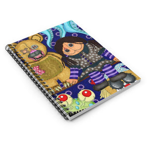 Scary Toys Artwork Spiral Notebook - Ruled Line