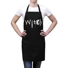 Load image into Gallery viewer, Black with the Word Witch in White Apron For Cooking or Art