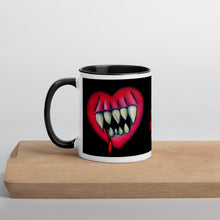 Load image into Gallery viewer, Goth Home Decor Eat Your Heart Out Creepy Coffee Mug