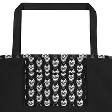 Load image into Gallery viewer, Summer Goth Black With Skull Pattern Beach Bag