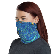 Load image into Gallery viewer, Starry Kitties Parody of Starry Night Neck gaiter Mask