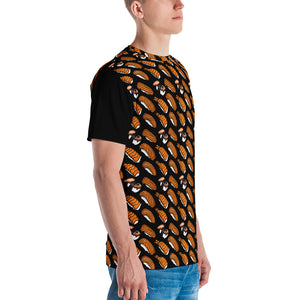 Black with Sushi Pattern Men's T-shirt
