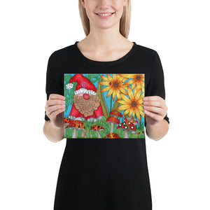The Gnome Art Print by Roxanne Crouse Photo paper poster