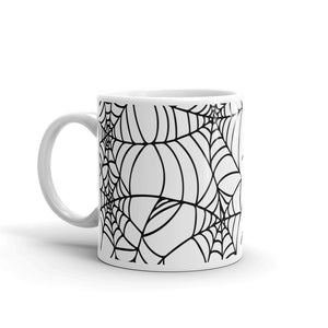 Goth home decor Black and White Spider Web Halloween Coffee Mug
