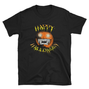 Happy Halloween Scary Pumpkin Short-Sleeve Unisex T-Shirt