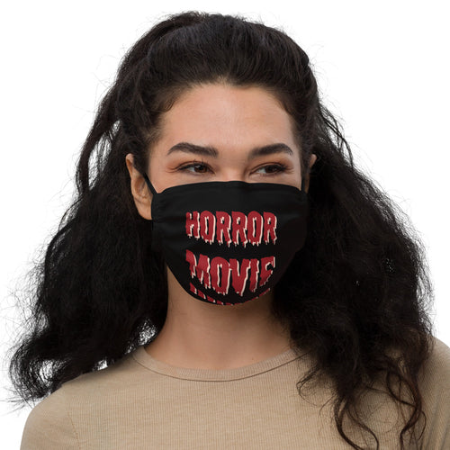 Horror Movie Junkie Premium face mask Great Gift for Horror Fans