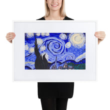Load image into Gallery viewer, Starry Night Matte Paper Framed Poster With Mat