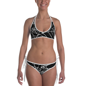 Goth Outfit Black and White Spider Web Bikini