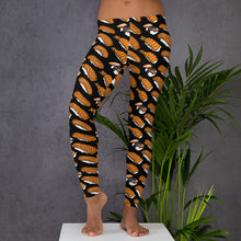 Load image into Gallery viewer, Black Leggings with Sushi Pattern