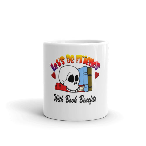 Lets be friends with book benefits coffee mug perfect gift for book lover reader