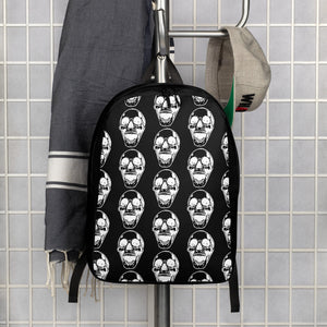 Goth Skull Pattern Minimalist Backpack