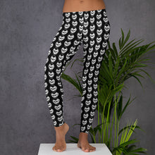 Load image into Gallery viewer, Black Goth Skulls Leggings
