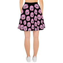 Load image into Gallery viewer, Man Eating Donuts Black Goth Skater Skirt
