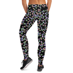 Black Goth Eyeballs Everywhere Halloween Leggings