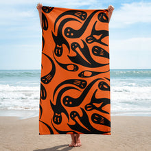Load image into Gallery viewer, Halloween Goth Spooky Ghost Beach or Bath Towel to Spook Up Your Summer