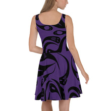 Load image into Gallery viewer, Purple Halloween Ghost Skater Dress
