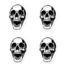 Load image into Gallery viewer, Goth Bullet Journal Four Skulls Bubble-free stickers