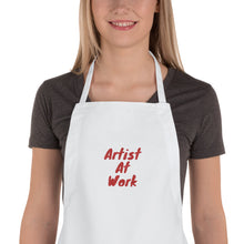 Load image into Gallery viewer, Artist at work apron a great gift for cooks and artists