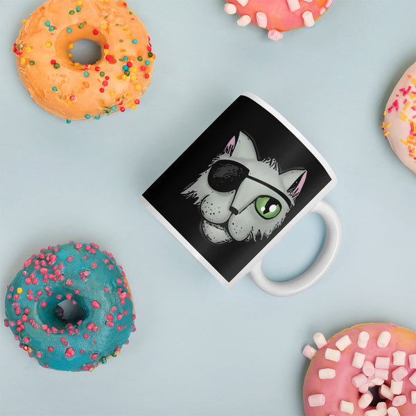 pirate cat coffee mug