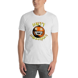 Happy Halloween Scary Pumpkin Short-Sleeve Unisex T-Shirt white