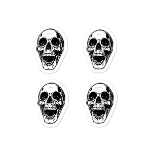 Goth Bullet Journal Four Skulls Bubble-free stickers