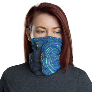 Starry Kitties Parody of Starry Night Neck gaiter Mask