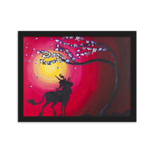 Load image into Gallery viewer, The Last Unicorn inspired poster print of acrylic painting on canvas