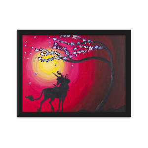 The Last Unicorn inspired poster print of acrylic painting on canvas
