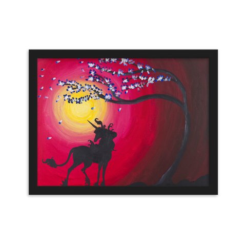 The Last Unicorn inspired Framed matte paper poster