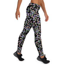 Load image into Gallery viewer, Black Goth Eyeballs Everywhere Halloween Leggings