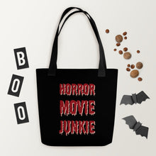 Load image into Gallery viewer, Horror Movie Addict Tote bag