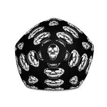 Load image into Gallery viewer, Black Goth Skulls Bean Bag Chair w/ filling
