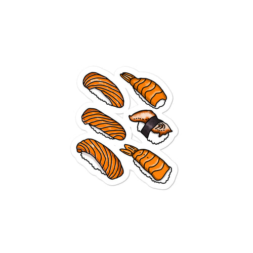 kawaii Japanese sushi stickers salmon tuna