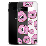 Scary pink man eating doughnuts Samsung Case