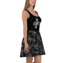 Load image into Gallery viewer, Goth Mom Black Spider Web Pattern Skater Dress