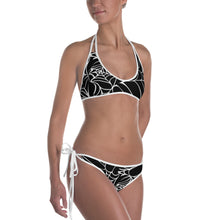 Load image into Gallery viewer, Goth Outfit Black and White Spider Web Bikini