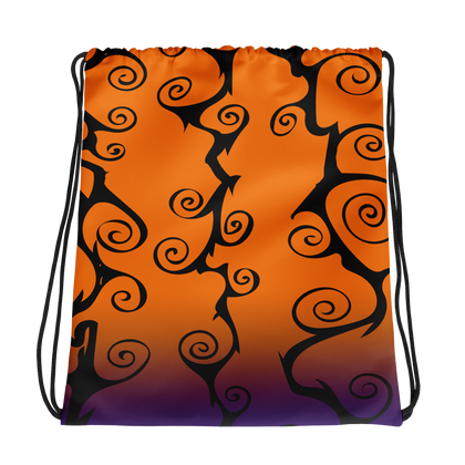 Spooky Halloween Colors Drawstring bag