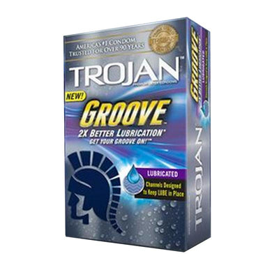 Trojan Groove Latex Condoms With Grooves To Help Keep Lube In Place (10)
