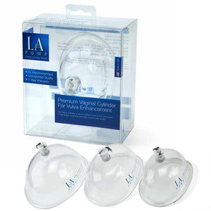 LA Pump Premium Vaginal Cylinder, Medium, packaged