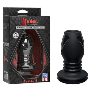 Kink Wet Works Explore Silicone Anal Plug Standard Black