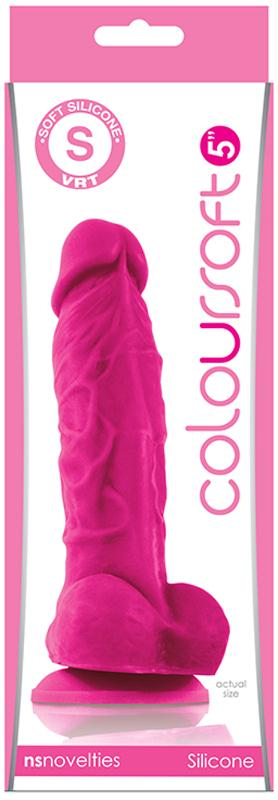 ColourSoft 5in Soft Dildo Pink